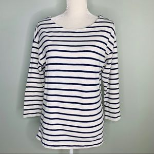 J. Crew Shirt Tee Medium Striped Side Zippers